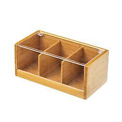 Bambusový box na čaj Unimasa Bamboo, 21,8x11cm