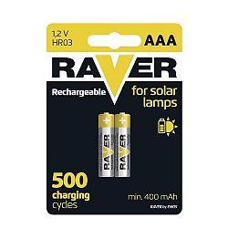 Baterie RAVER nabíjecí AA NiMH 600mAh balení 2ks