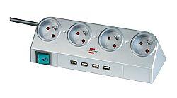 Brennenstuhl Zásuvková lišta Power pro PC s vypínačem a USB Hub 2.0