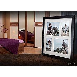 Černý rámeček na 4 fotografie Styler Narvik, 39x39cm