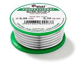 Cín 0,50mm/100g  CYNEL Sn99,3Cu0,7 bezolovnatý