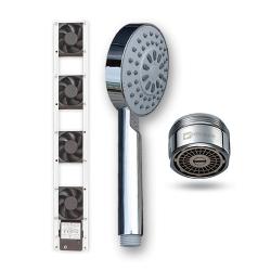 Citel Ventilátor pod radiátor termiky 4 ventilátory + Úsporná sprchová hlavice Basic 4-7 l / min a Úsporný perlátor Hihippo HP1055 vnější závit