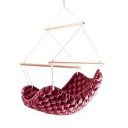 Cyklamenově růžové interiérové houpací křeslo Linda Vrňáková Swingy In