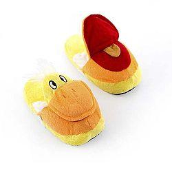 Dětské bačkory InnovaGoods Fluffy Slippers Duck, velikost M
