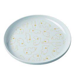 Dětský světle modrý talíř se žlutými detaily Done by Deer Yummy, Ø20,5cm