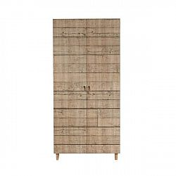 Dřevěná šatní skříň Ursula Stripes