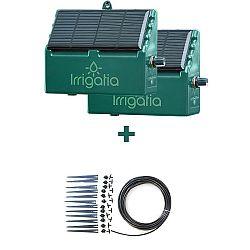 Irrigatia Solární automatické zavlažování 2 x Sol C-12 + rozširující sada 12 okapávačú