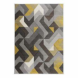 Koberec Flair Rugs Aurora Grey Ochre, 80 x 150 cm