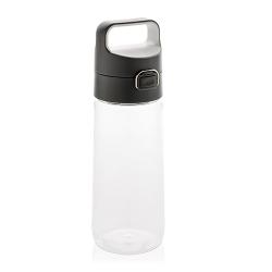 Láhev na vodu s uzamykatelným víčkem XD Design 600ml transparentní