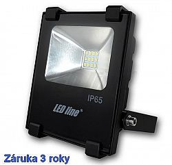 LED line® LED reflektor 10W SLIM Neutrálna biela, záruka 3 roky