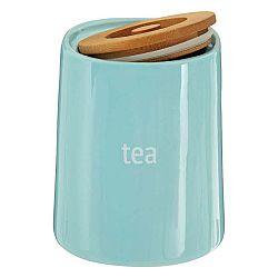 Modrá dóza na čaj s bambusovým víkem Premier Housewares Fletcher, 800 ml