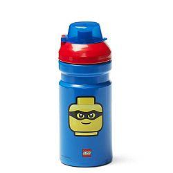 Modrá lahev na vodu s červeným víčkem LEGO® Iconic, 390ml
