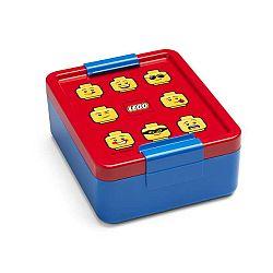 Modrý box na svačinu s červeným víčkem LEGO® Iconic