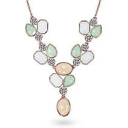 Náhrdelník se Swarovski Elements Saint Francis Crystals Stone Orange/Green/White