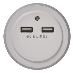 Noční světlo do zásuvky se senzorem pohybu EMOS P3313 230, 3x LED, 2 × USB