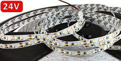 Optonica 24V 5m LED pásik do interiéru 120 SMD2835 9.6W/m Neutrálna biela IP20