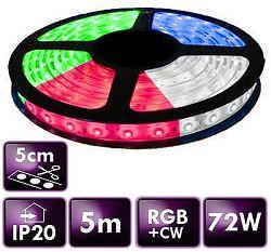 Optonica 5m RGB+CW LED pás  SMD5050 72W IP20