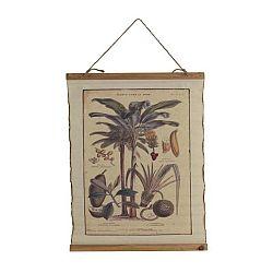 Plakát na bavlněném plátně Geese Palm