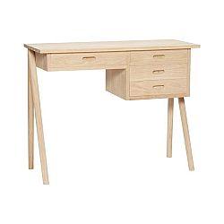 Pracovní stůl z dubového dřeva se 4 zásuvkami Hübsch Ejnar