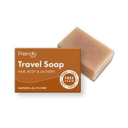 Přírodní mýdlo na tělo a vlasy na cestování Friendly Soap