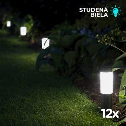 Sada 3x Solární sloupkové osvětlení SolarCentre London Mini XT SS9881 (balení 12 světel)