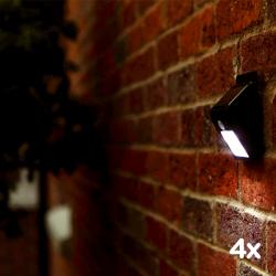 Sada 4x Solární bezpečnostní LED osvětlení SolarCentre Eco Wedge XT SS9849 160 Lumenů s pohybovým senzorem