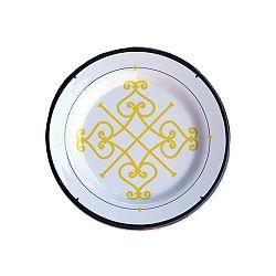 Sada 6 melaminových talířků Sunvibes Arabesque, Ø 20 cm