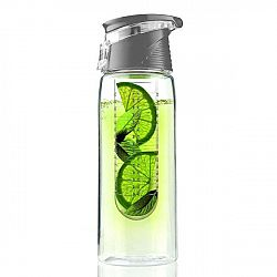 Šedá lahev Asobu Flavour It 2 Go, 600 ml