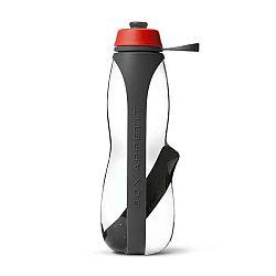 Šedo-červená sportovní filtrační lahev s binchotanem Black+Blum Eau Good Duo, 700ml