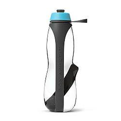 Šedo-modrá sportovní filtrační lahev s binchotanem Black+Blum Eau Good Duo, 700ml