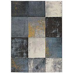 Šedý koberec vhodný i na ven Universal Adra Azulo, 160 x 230 cm