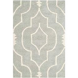 Šedý vlněný koberec Safavieh Morgan, 152 x 91 cm