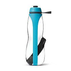 Sivo-zelená športová filtračná fľaša s binchotanom Black+Blum Eau Good Duo, 700ml