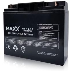 SOLAR Akumulátor gelový bezúdržbový MAXX 12-FM-18 18Ah 12V
