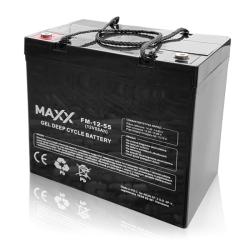 SOLAR Akumulátor gelový bezúdržbový MAXX 12-FM-55 55Ah 12V