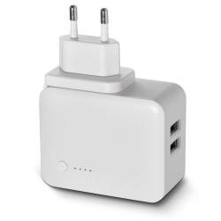 SOLAR Duální USB adaptér 3.1A, micro USB kabel a redukce USB-C
