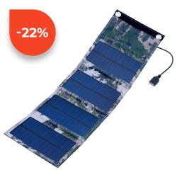 SOLAR Skládatelný solární panel ES-6 6W 2x USB 5V