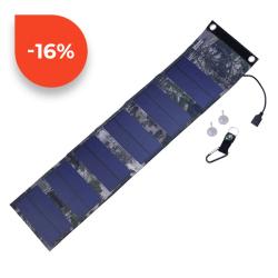 SOLAR Skládatelný solární panel ES-6 9W 2x USB 5V