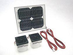 SOLAR Solární větrací systém STANDARD SO191 130m3/h s výkonem 10W - kulatý