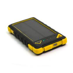 Solární powerbank DOCA Solar 8 5V 8000mAh žlutý