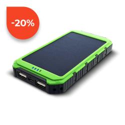 Sunen Solární powerbank 0.8W 6000mAh S6000G zelená