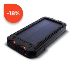Sunen Solární powerbank 1W 12000mAh S12000Y oranžová