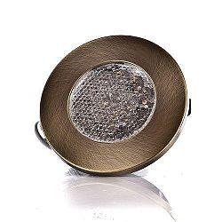Svietidlo bodové LED ploché kruh 19LED PATYNA,230V