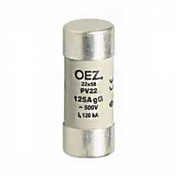Válcová pojistka OEZ PV22 125A gG