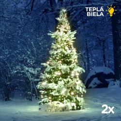 Vánoční sada 2x Solární LED řetěz SolarCentre Elan SS9944 200 LED / 20m teplá bílá