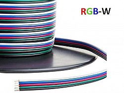 VE Kabel pre LED pásy RGBW 0.2mm2
