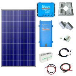 Victron Energy Solární ostrovní systém 285Wp 12V karavan s MPPT regulátorem Victron 100V 20A a měničem 12V 500VA 20A - 16A
