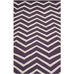 Vlněný koberec Safavieh Edie Purple, 182 x 121 cm