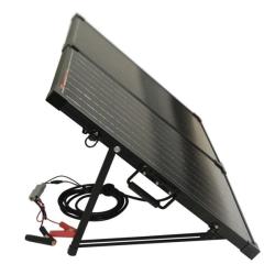 Westech Solární panel monokrystalický 12V 100W skládatelný s regulátorem, USB a pouzdrem