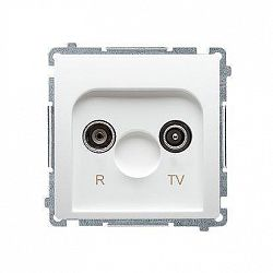 Zásuvka RTV Simon Basic koncová modul 1dB biela